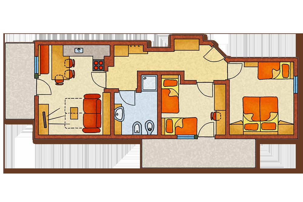 skizze-ferienwohnung-bauernhof-morgenrot-appartamento-vacanze-agriturismo